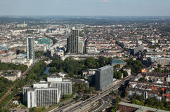 Aerial view of Dusseldorf, Germany Stock Image