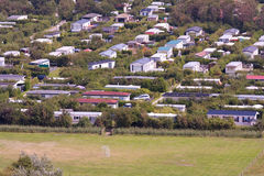 Aerial view of a Dutch bungalow park Royalty Free Stock Images