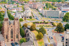 Aerial view of the Dutch city of Arnhem Stock Photography