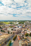 Aerial view of the Dutch city Arnhem Stock Photography