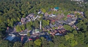 Aerial view of Dyrehavsbakken amusement park, Denmark Royalty Free Stock Photos