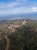 Aerial view of earth Royalty Free Stock Photo