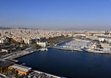 Aerial View of East Barcelona, Spain Coast Line Royalty Free Stock Photo