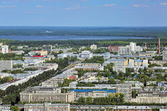 Aerial view of the east side of Yekaterinburg, Russia Royalty Free Stock Image
