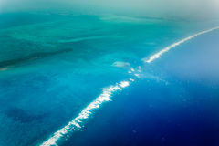 Aerial view of eastern coast of Belize Stock Photography