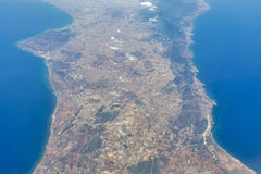 Aerial view of Eastern Cyprus Stock Photography