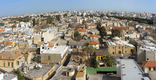 East old city of Nicosia, Cyprus, aerial view Royalty Free Stock Photo