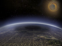 Aerial view of eclispe 2 royalty free stock image