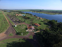 Aerial view of the Ecological Park  in Sertaozinho city, Sao Paulo, Brazil. Stock Image