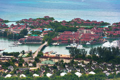 Aerial view of Eden Island Mahe Seychelles Royalty Free Stock Photography
