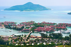Aerial view of Eden Island Mahe Seychelles Royalty Free Stock Images