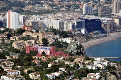 Aerial view of Edificios de Ricardo Bofill Stock Photo