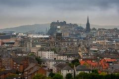 Aerial view of Edinburgh, Scotland Royalty Free Stock Image