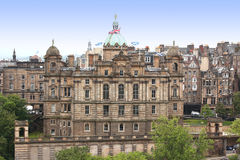 Aerial view Edinburgh, Scotland Royalty Free Stock Images