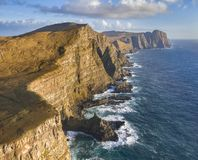 Suduroy Cliffs and Coastline stock photo