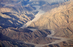 Aerial view of the egyptian mountains and plateaus Stock Image