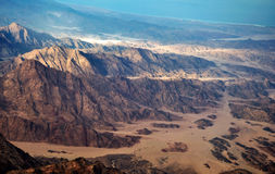 Aerial view of the egyptian mountains and plateaus Stock Images