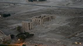 Aerial view of egyptian temples in Luxor stock video