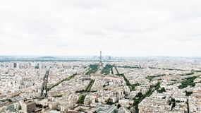 Aerial View of Eiffel Tower Across Buildings during Daytime Royalty Free Stock Images