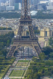 Aerial view of Eiffel Tower and La Defense business district tak Stock Photo