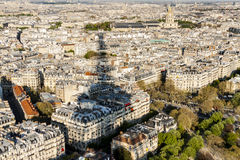 Aerial view from Eiffel Tower - Paris Royalty Free Stock Photos