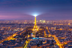 Aerial view of Eiffel Tower in Paris, France Royalty Free Stock Image