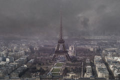 Aerial view of eiffel tower Stock Photography