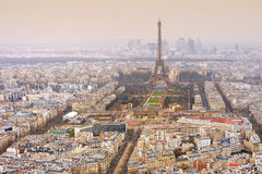 Aerial view of the Eiffel tower Stock Photography