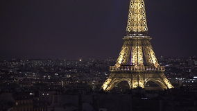 Aerial view of Eiffel Tower stock video footage