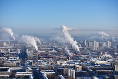 Aerial view of Ekaterinburg, Russia Royalty Free Stock Image