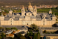 Aerial view of El Escorial. Aerial view of the monastery of San Lorezo of El Escorial, Madrid, Spain Royalty Free Stock Photography