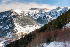 Aerial view of El Tarter in Andorra Royalty Free Stock Photography