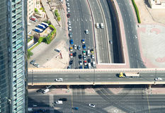 Aerial view of Elevated Interstate Interchange Royalty Free Stock Photo