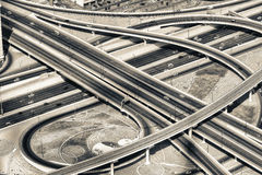 Aerial view of Elevated Interstate Interchange Royalty Free Stock Photos