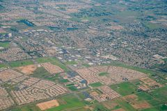 Aerial view of the Elk Grove area. Sacramento County, California stock images