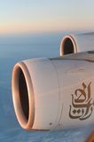 Aerial view from Emirates Airbus A380 Royalty Free Stock Images