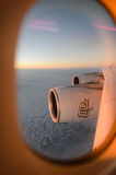 Aerial view from Emirates Airbus A380 Stock Image