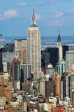 Aerial view of the Empire State Building Royalty Free Stock Photography