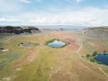 Aerial View Of An Empty Landscape  Royalty Free Stock Photo