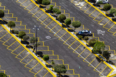 Aerial view of empty parking area Royalty Free Stock Photos