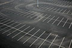 Aerial view of an empty parking lot Royalty Free Stock Images