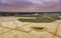 Aerial view of empty runway Royalty Free Stock Image