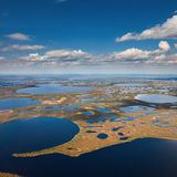Aerial view of endless marshes Royalty Free Stock Photos