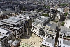 Aerial view with english square Stock Photography