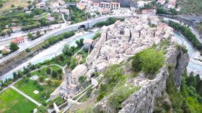 Aerial view of Entrevaux, France Stock Photo