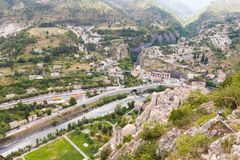 Entrevaux, South of France royalty free stock photography