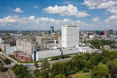 Aerial view of the Erasmus university of Rotterdam. Aerial view of the Erasmus university hospital of Rotterdam, the Netherlands royalty free stock photography