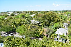 Aerial view of Ernest Hemingway's House in Key West Royalty Free Stock Photos