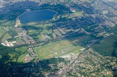 Sandown Park Race Course - Aerial View Royalty Free Stock Photography
