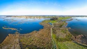 Aerial View of Esteiro da Tojeira Stock Images